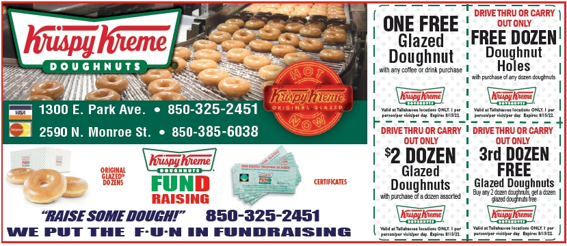 picture about Krispy Kreme Printable Coupons identified as Krispy Kreme On the net Printable Discount codes for Tallahee