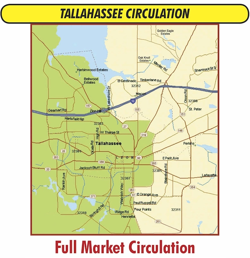AD/MAXII Circulation Map for Tallahassee